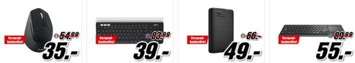Media Markt: GiGaGünstig Sale für PC Hardware & Zubehör   z.B. LOGITECH K780  Tastatur für 39€ (statt 65€)