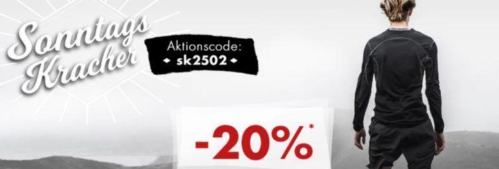 Karstadt Sonntags Kracher mit 20% Rabatt auf Laufbekleidung, Make Up, Cashmere/Seide u.a.