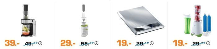 Saturn Late Night: Kochen & Haushalt   z.B. KITCHENAID Artisan Küchenmaschine für 399€ (statt 432€)