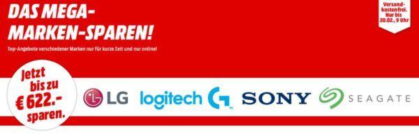 Media Markt Mega Marken Sparen: günstige Artikel von LG, Logitech, SONY und Seagate