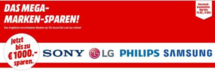 Media Markt Mega Marken Sparen: günstige Artikel von Samsung, LG, Sony und Philips