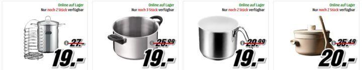 Media Markt: Töpfe zu Hammerpreisen bis Mitternacht   z. B 4 teiliges ELO Set für 59€ (statt 79€)
