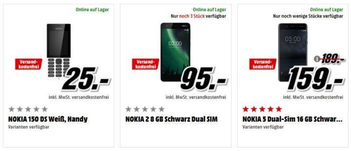 Preishammer: NOKIA Smartphones  z.B. NOKIA 150 DS  für 25€