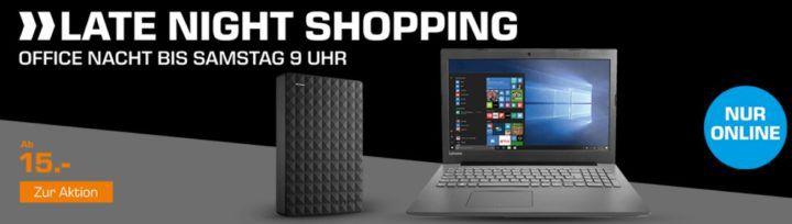 Saturn Office Late Night: günstige Notebooks + Festplatten & Zubehör   z.B LOGITECH MK710 für 45€ (statt 67€)