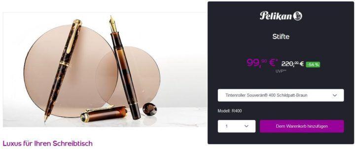 PELIKAN One Day Sale: z.B. Kugelschreiber Souverän K800 ab 149,90€ (statt 211€)