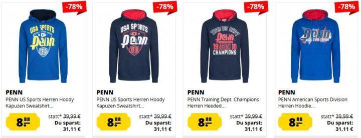 PENN US Sports Herren Hoodies ab je 8,88€ (statt 22€)