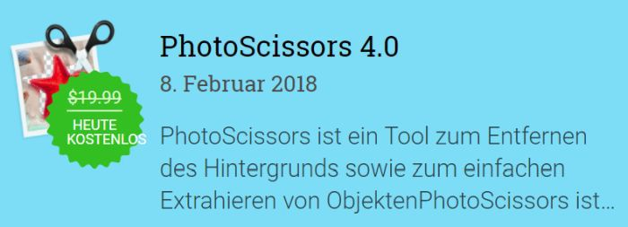 PhotoScissors 4 (Vollversion, Windows) kostenlos