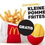 Kleine Portion Pommes gratis bei McDonalds – nur heute