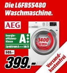 AEG L6FB55480 Waschmaschine mit 8kg und A+++ für 399€ (statt 468€)