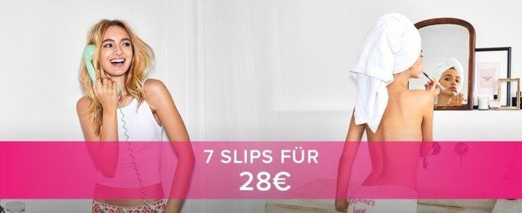 7 Slips für 28€ bei Hunkemöller