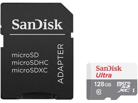 SanDisk Ultra MicroSDXC Speicherkarte 128GB + Adapter für 13,65€ (statt 21€)