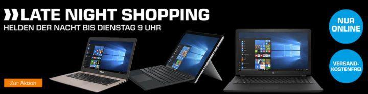 Saturn Late Night: günstige Notebooks und Convertibles z.B. HP 15 bs570ng Notebook für 299€ (statt 379€)