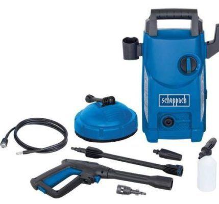 Scheppach HCE1500 Hochdruckreiniger 105 bar, 408 l/h mit Flächenreiniger für 49,90€ (statt 70€)