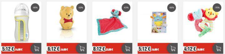 top12 Sale mit Milchnahrung für Säuglinge von Milupa Aptamil und Babyspielzeug von Fisher Price