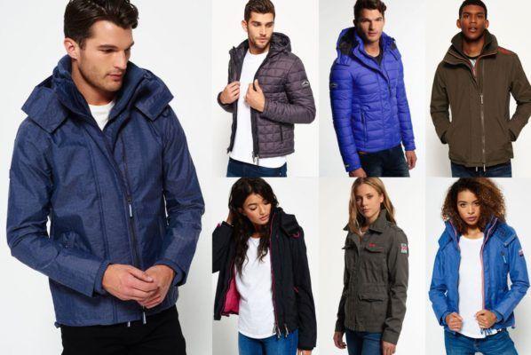 Superdry Jacken   verschiedene Damen und Herren Modelle bis 3XL für je 43,95€