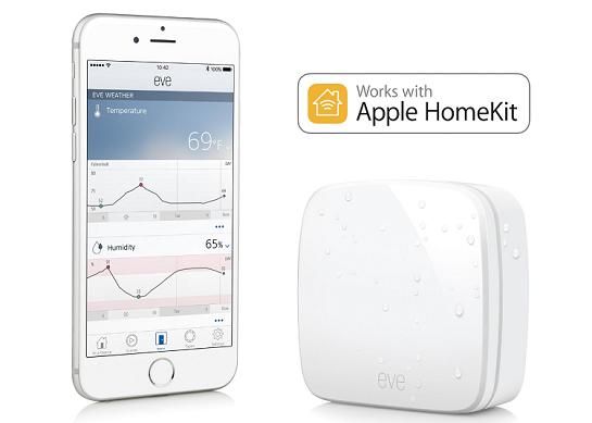 Elgato Eve Weather   kabelloser Außensensor für iPhone/iPad für 34,98€