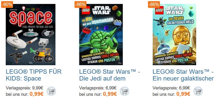 LEGO und STAR WARS Bücher   Restposten bei TerraShop + VSK frei