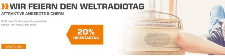 Saturn Weltradiotag: 20% extra Rabatt auf ausgewählte Radios bis Mitternacht!