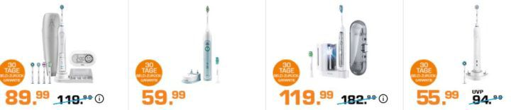 Saturn Late Night Zahnpflege Highligts: z.B. PHILIPS HX 9172/15 Sonicare FlexCare eZahnbürste für 119,99€