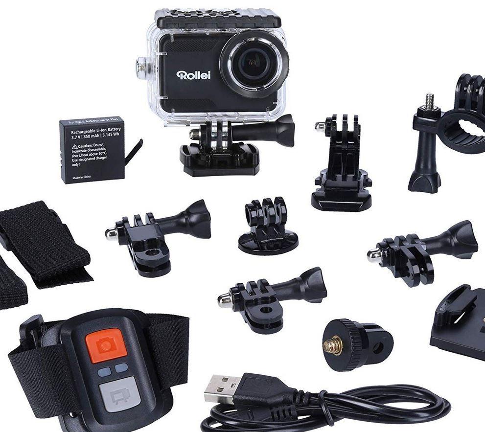 ROLLEI 6s Plus 4K WLan Actioncam+ ROLLEI 21639 Outdoor Action Cam Zubehörset für 77€ (statt 95€)