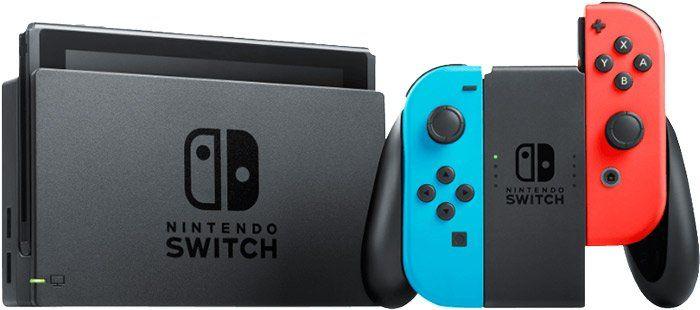 Nintendo Switch mit Joy Cons in Neon Rot/Neon Blau für 269,99€ (statt 298€)