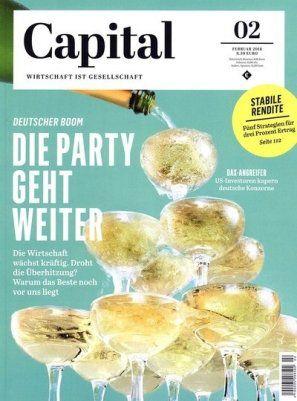 4 Ausgaben der Capital für 25,50€ inkl. 24€ Verrechnungsscheck