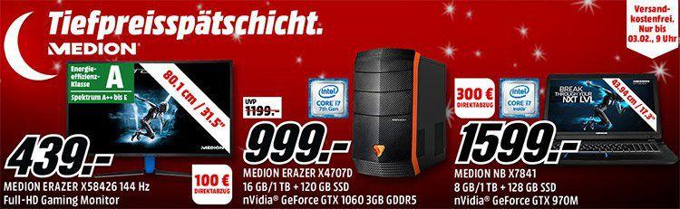 MediaMarkt – Tiefpreisspätschicht: z.B. MEDION AKOYA X58455 MD22455 32 Zoll für 249€ (statt: 304€)