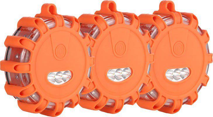 LED Warnleuchte inkl. Taschenlampe mit mehreren Modi im 3er Pack für 15,16€