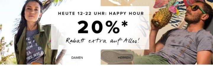 Bis 22Uhr: dress for less Happy Hour bis 70% Rabatt + 20% extra Rabatt z.B. Hilfiger Poloshirts ab 36€