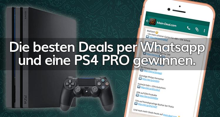 Gewinnspiel: Anmeldung für unsere Deals per WhatsApp und mit Glück eine Playstation 4 Pro gewinnen
