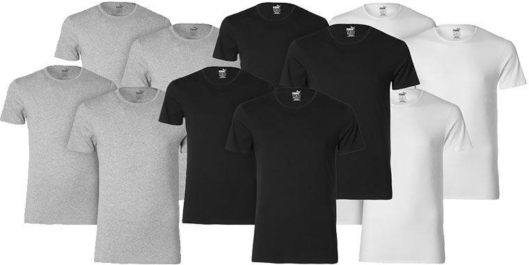 Puma Basic   4er Pack Herren T Shirts für 28,99€ (statt 33€)