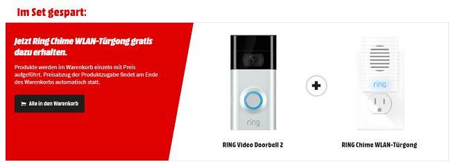 RING 8VR1S7 Video Türklingel + RING Chime Stecker für 149€ (statt 184€)