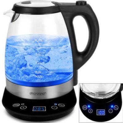 Monzana 1,7l Wasserkocher mit Temperaturwahl 2200W für 27,95€