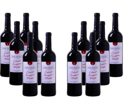 12 Flaschen Pierre Baptiste Cabernet Sauvignon Merlot Rotwein für nur 49,92€