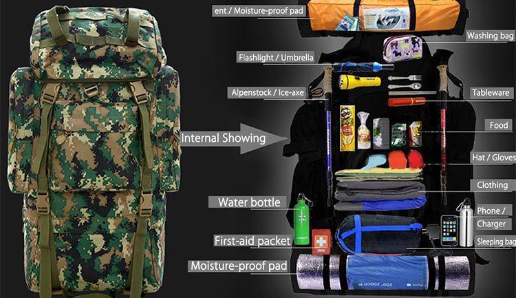 60L Outdoor Rucksack (Marpat Desert) für 38,21€
