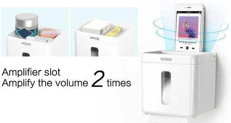 ecoco Klopapierhalter mit Ablage & Verstärker für 6,36€