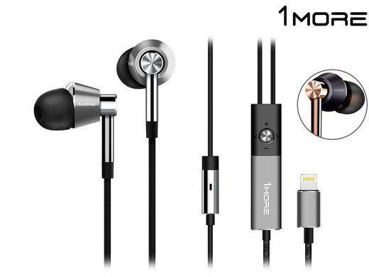 1MORE In Ear Kopfhörer mit Lightning Anschluss für 49,95€ (statt 67€)