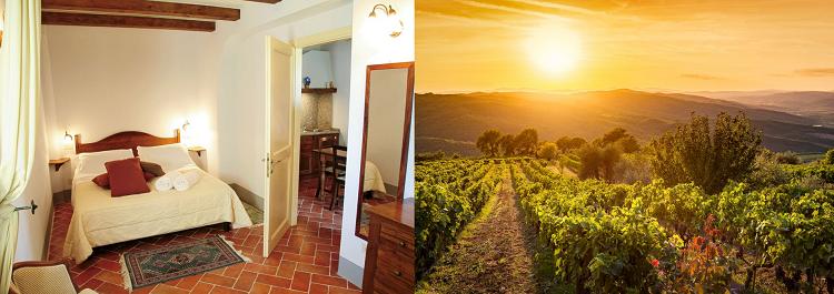3, 4 o. 7 ÜN im 4* Landgut in der Toskana inkl. Halbpension, Weinprobe & Rotwein ab 139€ p.P.