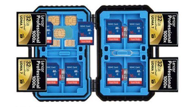 Wasserdichter Transportkoffer für SD / CF / TF / SIM Karten für 4,52€