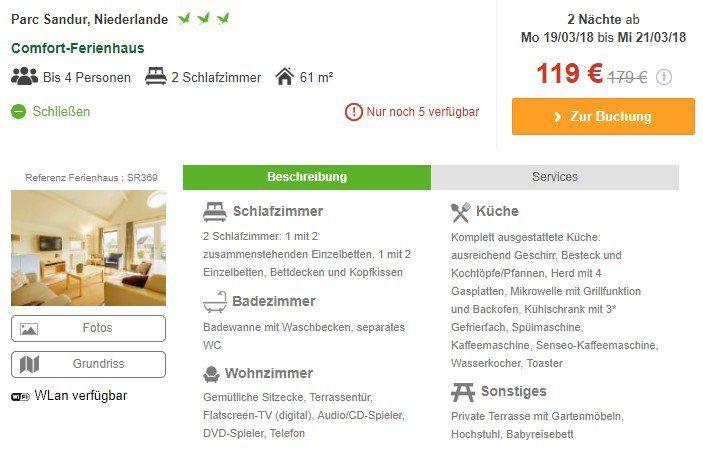 Osterangebote bei Center Parcs z.B. ab 119€ bei 2ÜN für 4 Personen