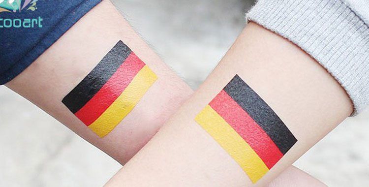 Nationalflaggen als Fake Tattoos für je 0,58€