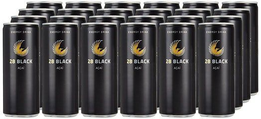 24er Pack 28 Black Acai Energy Drink je 250ml für 26,99€ inkl. 6€ Pfand (statt 36€)