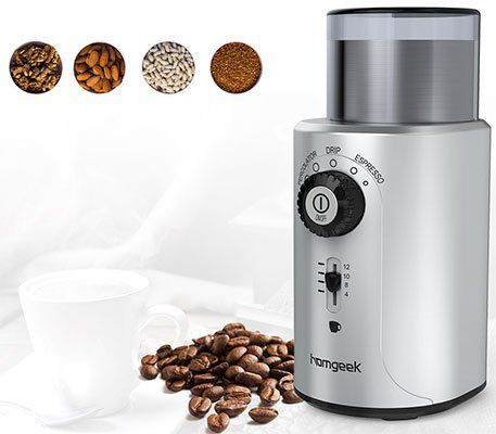 Homgeek Elektrische Kaffeemühle/Pfeffermühle mit Edelstahlklingen für 22,19€ (satt 37€)