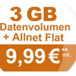 SIM only: Klarmobil AllNet & SMS Flat inkl. 3 GB Daten für nur 9,99€ mtl.