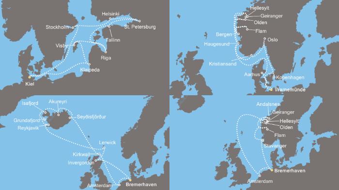 Costa Kreuzfahrten Angebote: z.B. 11 Tage Metropolen des Nordens inkl. Vollpension ab Bremerhaven ab 945€ p.P.