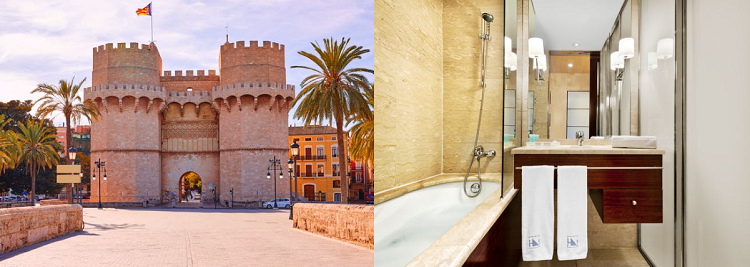 2   5 ÜN im 5* Hotel in Valencia inkl. Frühstück, Flüge, Sauna & Fitness ab 159€ p. P.