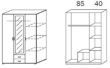 Drehtürenschrank Rush Twin (127cm) für 117€ (statt 199€)