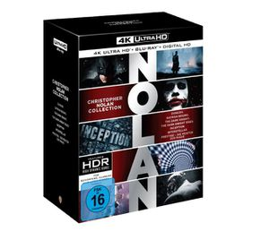 Nolan Collection 4K   Exklusiv + Digital Ultraviolet   (4K Ultra HD Blu ray + Blu ray) für 80€ (statt 143€)