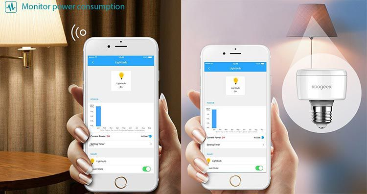 Koogeek Socket für Glühbirne (E27) mit Wifi Anbindung für iOS für 16,10€ (statt 35€)