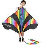 Großer Einleiner-Drachen (290x140cm) in Regenbogen-Optik für 4,80€ (statt ~11€)